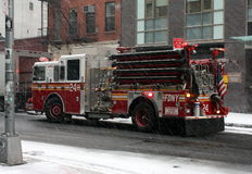New York Fire Department. At work in So Ho Street, NYC royalty free stock photo