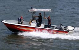 New York Fire Department Boat Royalty Free Stock Image
