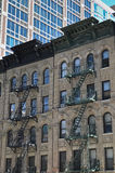 New York fire escape building Stock Images