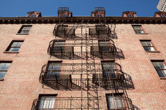 New York Fire Escapes Royalty Free Stock Photos