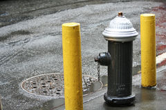 New York Fire Hydrant. Horizontal shot of a Fire hydrant in New York city Stock Photo