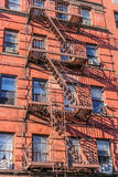 New York fire stairs Royalty Free Stock Images