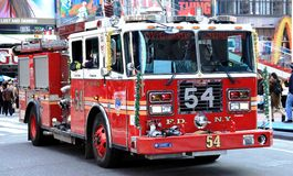 New York firefighters in action Royalty Free Stock Image