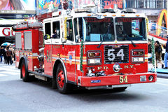 New York firefighters in action Royalty Free Stock Photos