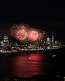 New York Fireworks Stock Photo