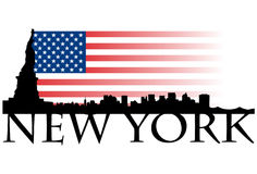 New York flag Royalty Free Stock Photography