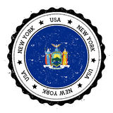 New York flag badge. Royalty Free Stock Photo
