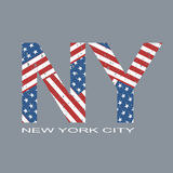 New york flag typography, t-shirt graphics, vector format eps10. Beautiful New york flag typography, t-shirt graphics, vector format eps10 Royalty Free Stock Photo