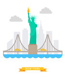 New-York flat background vector Royalty Free Stock Photos