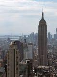 New York flyg- sikt arkivbild