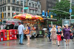 New York food stands Royalty Free Stock Photography