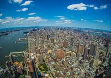 NEW YORK FRÅN FREEDOM TOWER royaltyfri bild