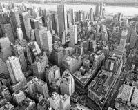 New York från skyen arkivbild