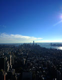 New York från skyen Royaltyfri Fotografi