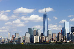 NEW YORK - Freedom Tower in Lower Manhattan Royalty Free Stock Photo