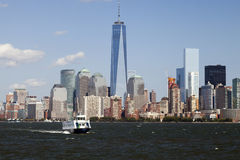 NEW YORK - Freedom Tower in Lower Manhattan Stock Image