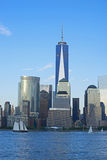 New York Freedom Tower. Freedom Tower in Lower Manhattan. One World Trade Center is the tallest building in the Western Hemisphere and the third-tallest building Royalty Free Stock Images