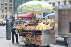 New York Fruit Stand Royalty Free Stock Photos