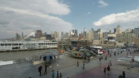New York, furchtloses Meer USA, Luft u. Raum-amerikanisches Geschichtsmuseum stock footage