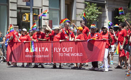 New York Gay Pride March Stock Image