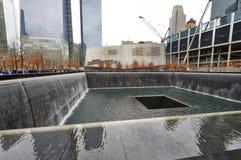 New York 9/11 Gedenkteken bij World Trade Centergrond Nul Stock Afbeeldingen