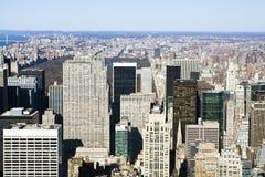 New York gesehen von oben lizenzfreies stockfoto