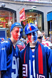 New York Giants Fans Royalty Free Stock Photos