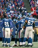 2006 New York Giants offense. New York Giants offensive huddle Stock Photo