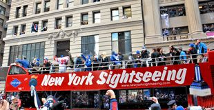 New York Giants Victory Parade Royalty Free Stock Photo
