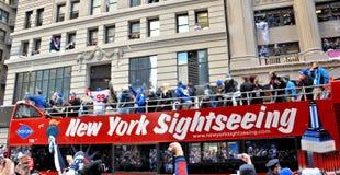 New York Giants Victory Parade royalty free stock photo
