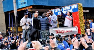 New York Giants Victory Parade royalty free stock photos