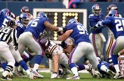 New York Giantsdefensie, NFC-Kampioenschapsspel, 2001 Royalty-vrije Stock Foto's