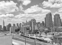 NEW YORK - 9 GIUGNO 2013: Vista aerea dei grattacieli di Midtown Immagini Stock