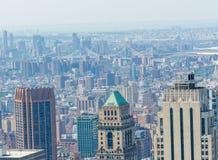 NEW YORK - 9 GIUGNO 2013: Vista aerea dei grattacieli di Midtown Immagine Stock Libera da Diritti