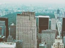 NEW YORK - 9 GIUGNO 2013: Vista aerea dei grattacieli di Midtown Fotografie Stock