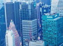 NEW YORK - 9 GIUGNO 2013: Vista aerea dei grattacieli di Midtown Fotografia Stock