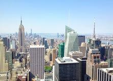 NEW YORK - GIUGNO 2013: Vista panoramica di Manhattan su un damerino fotografia stock libera da diritti
