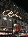 New York glauben Zeichen lizenzfreie stockfotografie