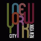 New York, grafici di tipografia della maglietta, vettore Immagine Stock