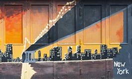 New York grafitti fotografering för bildbyråer