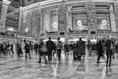 New York Grand Central in black and white Royalty Free Stock Images