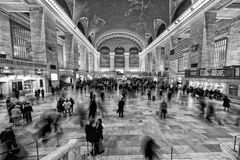 New York Grand Central en noir et blanc Photos libres de droits