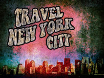 New York grunge. Promotional image of the city of New York grunge style Royalty Free Stock Photography