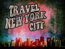 New York grunge. Promotional image of the city of New York grunge style royalty free illustration