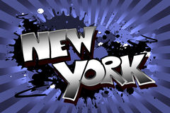 New York Grunge. The word New York as a grungy colorfully painting Royalty Free Stock Photography