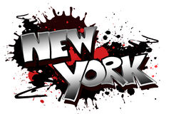 New York Grunge. The word New York as a grungy colorfully painting Stock Photography
