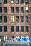 New York ha abbandonato la costruzione Fotografia Stock