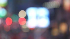 New York ha offuscato le luci notturne video d archivio
