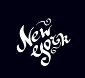 New York hand drawn bright text Royalty Free Stock Images