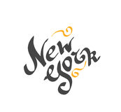 New York hand drawn bright text Royalty Free Stock Photography